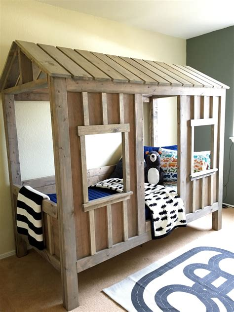 ana white coens cabin bed diy projects