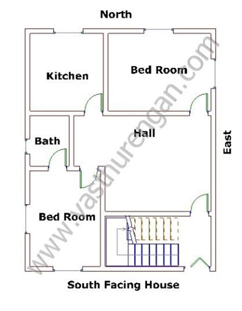 house plan for south facing plot with two bedrooms south facing houses vastu plan 6 vasthurengan com