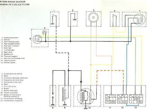 wiring diagram yamaha dt250 wiring get free image about