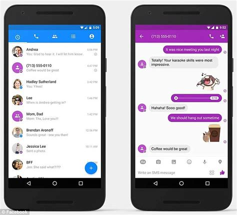 android text app android users can now make s messenger their default sms text app daily mail