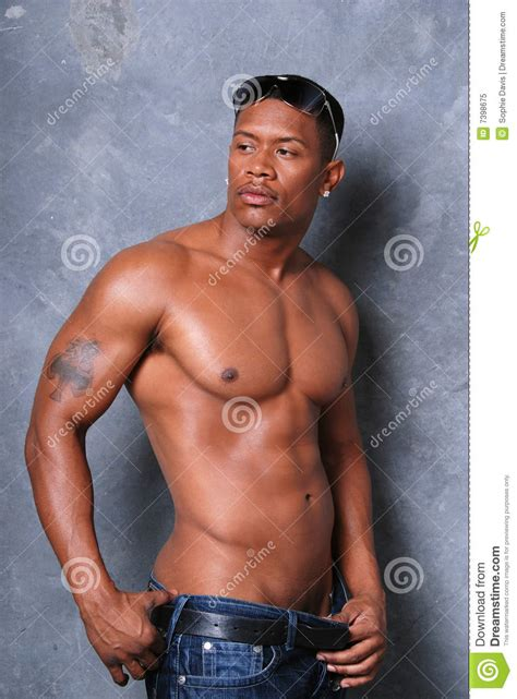 sexy african man attractive black man royalty free stock photo image