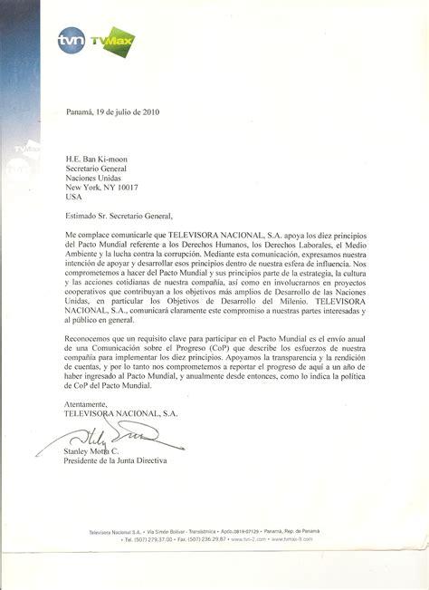Commitment Letter Que Es Televisora Nacional Sa Employment Letter Que Es Letter Sle