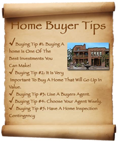 top 10 home buyers tips real estate properties santa fe