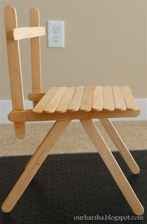 Popsicle Stick Chair by Popsicle Sticks Chair Craftfoxes