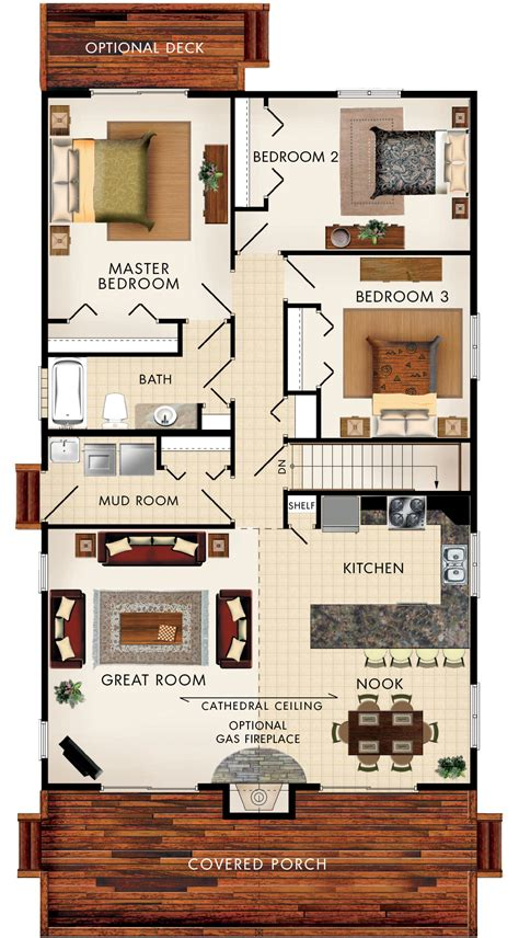 home design 7 x 10 beaver homes and cottages baywood iii