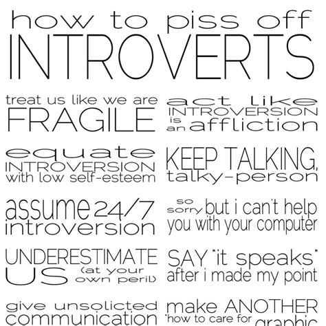 how to how to piss off introverts pearltrees
