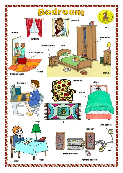 bedroom english vocabulary bedroom worksheet free esl printable worksheets made by