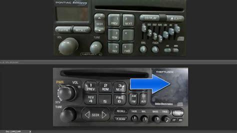 unlock chevy gm delco theftlock radio