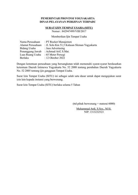 Contoh Surat Izin by Surat Izin Dinas Pariaman Lengkap