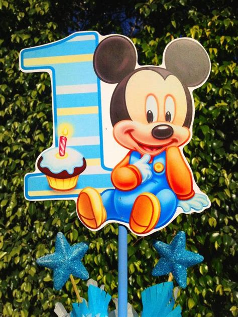 Baby Mickey Mouse Centerpiece For St  Ee  Birthday Ee    Ee  Party Ee