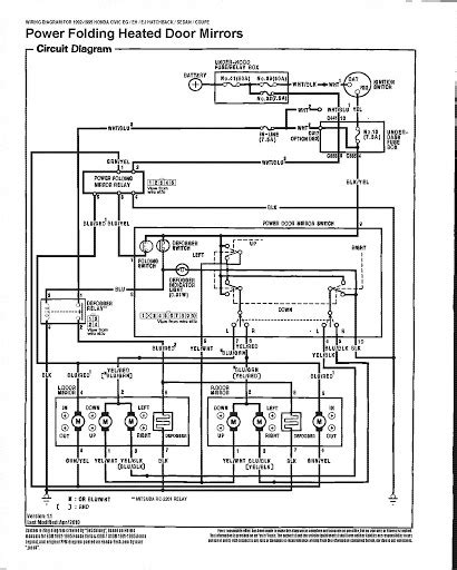 2002 honda civic power window wiring diagram wiring
