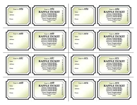 fundraiser dinner tickets template time sheet printable print your own tickets template free