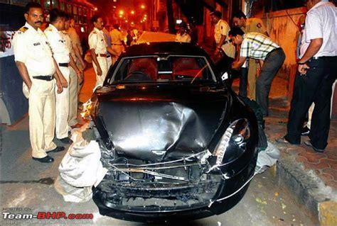 mumbai car crash aston martin rapide in mumbai
