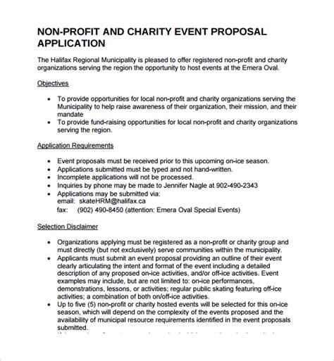 sle non profit proposal template 12 free documents