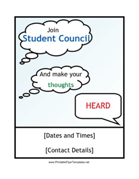student council poster templates student council flyer