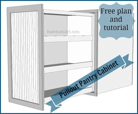how to build a pantry cabinet how to build and install a pull out pantry style storage
