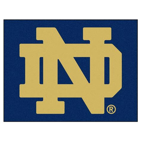 Notre Dame Area Rug Fanmats Notre Dame 2 Ft 10 In X 3 Ft 9 In All Rug 4416 The Home Depot
