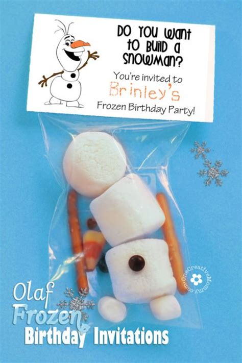 printable birthday invitations olaf olaf frozen invitations onecreativemommy com