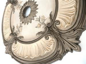 Acanthus Leaf Chandelier Items Similar To Painted Ceiling Medallion Acanthus Leaf