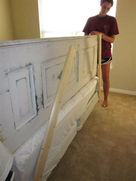making a headboard from a door headboard made from a vintage door for the home pinterest