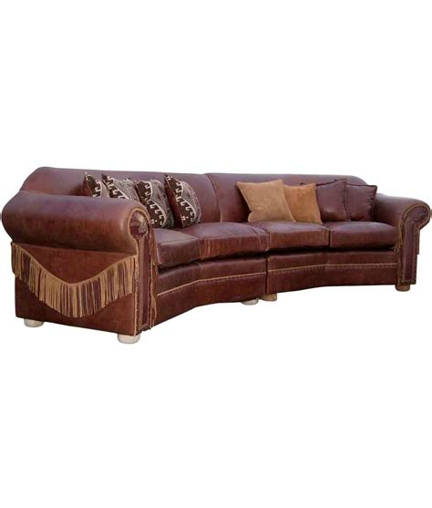 curved leather sectional
