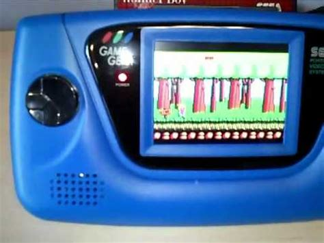 game gear light mod sega game gear lcd mod youtube