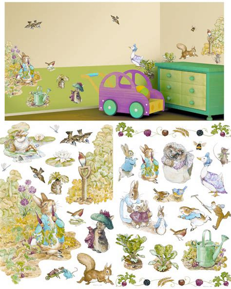 applique beatrix potter wall sticker