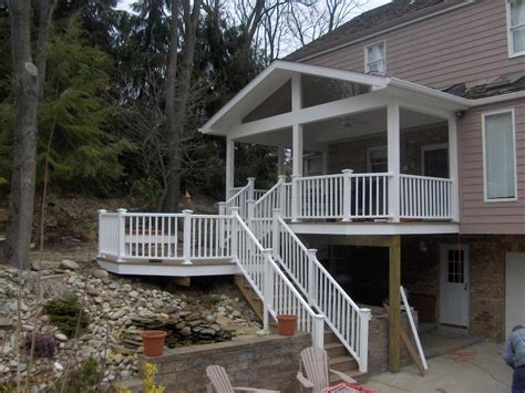 Deck With Patio Designs Covered Deck Designs Back Porch And Trex Octagon Deck Covered Porches Photo Gallery