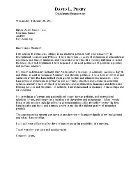 Relations Cover Letter by International Relations Cover Letter 2213