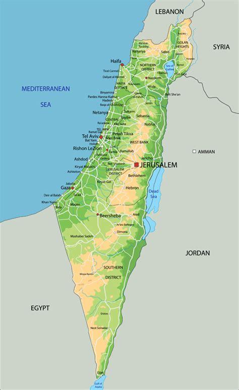 isreal map israel map 2016