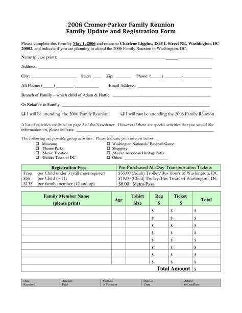 free family reunion planner templates free family reunion planner templates 28 images family