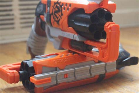 Nerf Hammershot nerf hammershot mod 7 cylinder nerf gun attachments