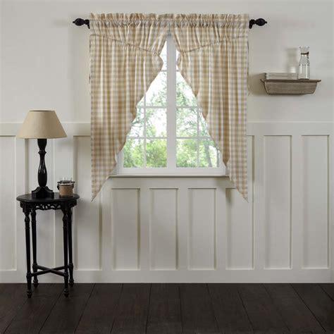 annies curtains annie buffalo check tan prairie curtain set of 2 63x36x18