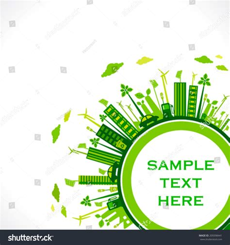 go green city background stock vector image of media go green earth green city save stock vector 209398441