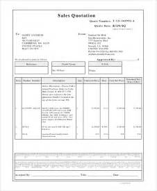sales quotation template sales quotation sle 7 documents in pdf