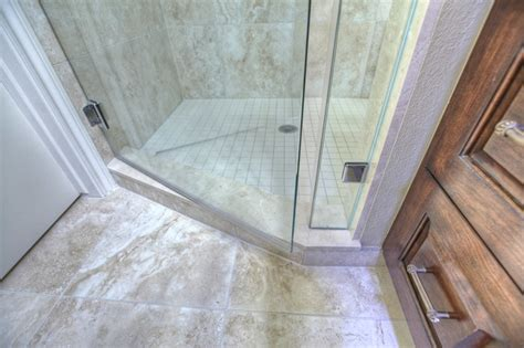 Bathroom Threshold by Shower Marble Threshold Traditional Bathroom Houston