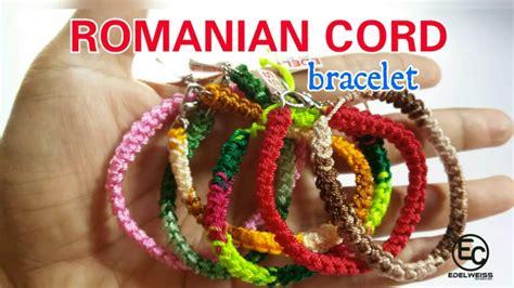 tutorial rajut gelang romanian cord bracelet crochet tutorial gelang rajut