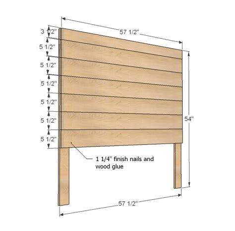 headboard building plans ana white hailey planked headboard diy projects