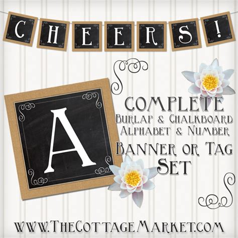 free printable chalkboard banner numbers free printable complete alphabet and number burlap and