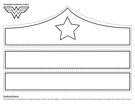 wonder woman crown printable template girl scouts