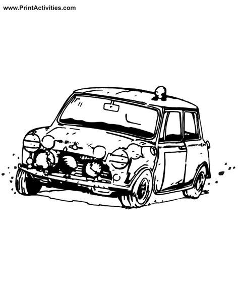 mini car coloring page car coloring page banged up car
