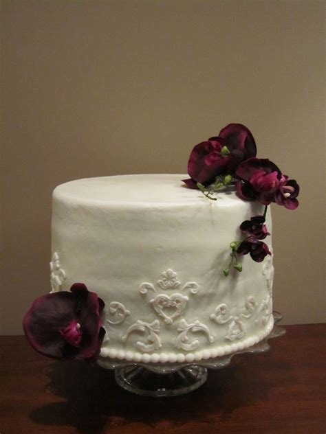 victorian wedding cake single tier cake decorating community cakes  bake