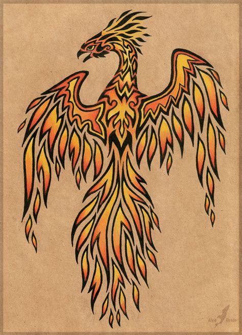 fire phoenix tattoo designs design by alviaalcedo on deviantart