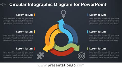 free circular layered diagram for powerpoint circular infographic diagram for powerpoint