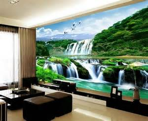 3d wallpaper bedroom mural roll landscape waterfall modern