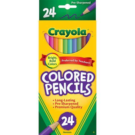 colored pencils crayola crayola barrel colored woodcase pencils 24 count