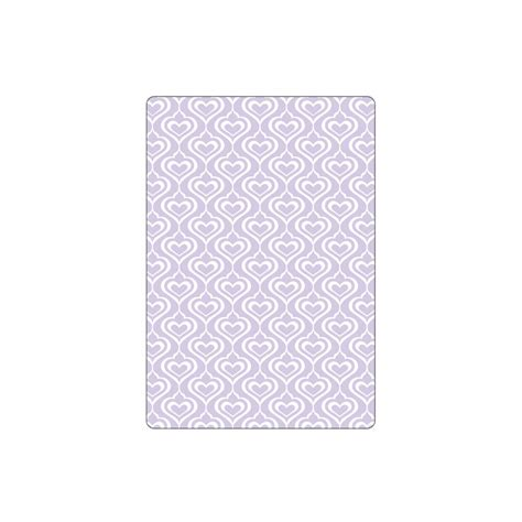 sizzix hearts textured impressions embossing folder