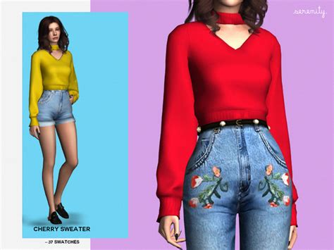St Cherry Dress Cc cherry sweater by serenity cc at tsr 187 sims 4 updates