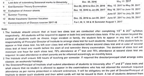 Uptu Mba Result 2016 17 by Aktu Lucknow Academic Calendar 2016 17 Even Semester