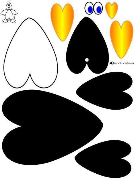 heart penguin craft template peguin crafts pinterest